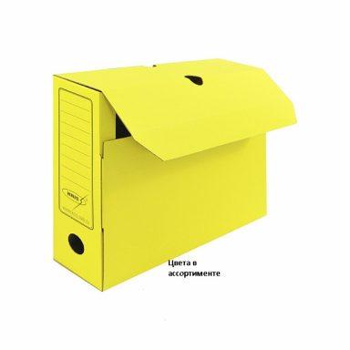короб архивный желтый 340 x 255 x 75 мм