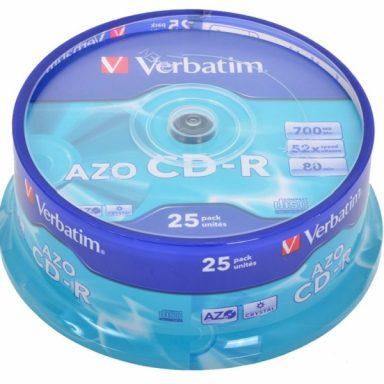 диски CD-R Verbatim 700mb 52х