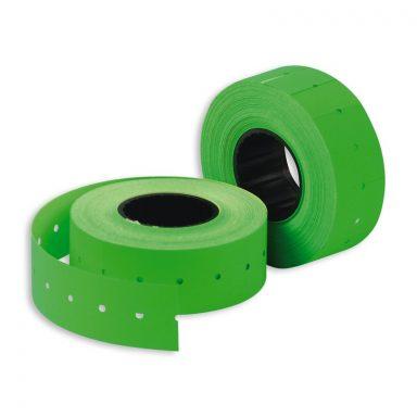 Этикет-лента 22*12 зеленая прямая