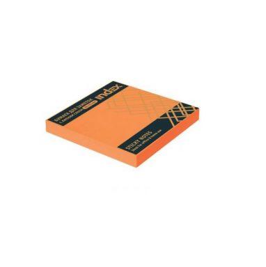 Бумага с клейким краем 76*75 INDEX оранжевый