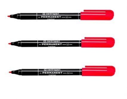 маркер Centropen permanent 2846 красный