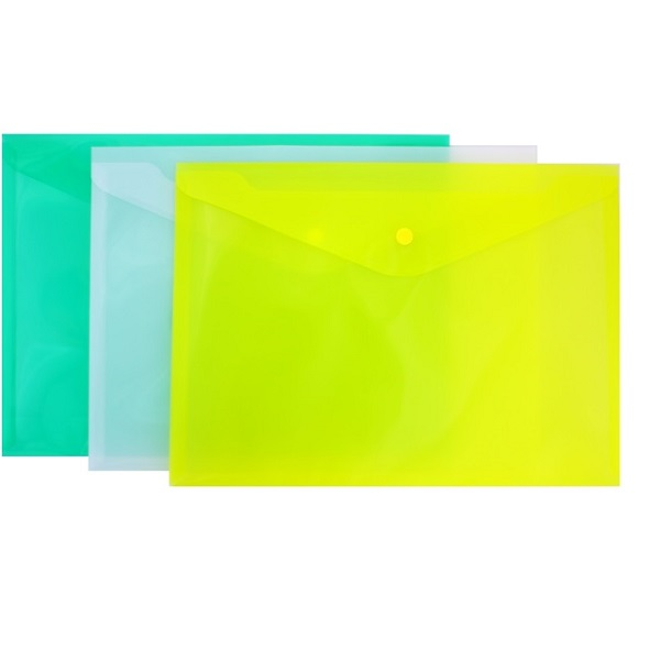Папка-конверт с кнопкой КНК 180
