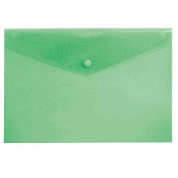 Зеленая пластиковая папка с кнопкой