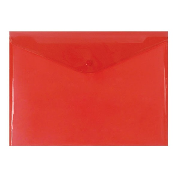 Папка-конверт с кнопкой КНК 180 красная