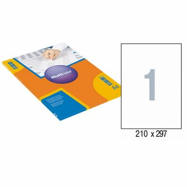Этикетки самоклеящиеся А4 210*297мм 100л