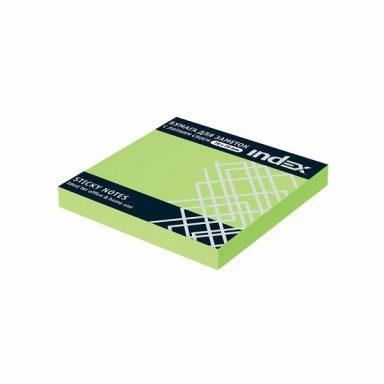 Бумага с липким слоем 76*75 INDEX зеленый