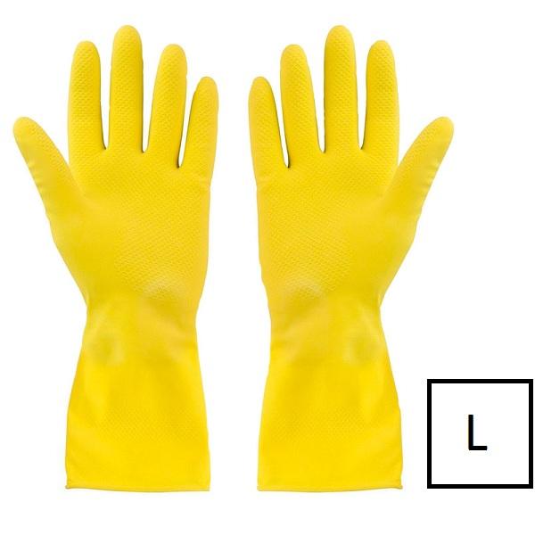 Перчатки латексные с хлопковым напылением размер L