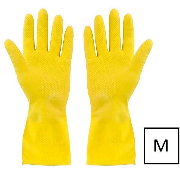 перчатки латексные с хлопковым напылением размер M