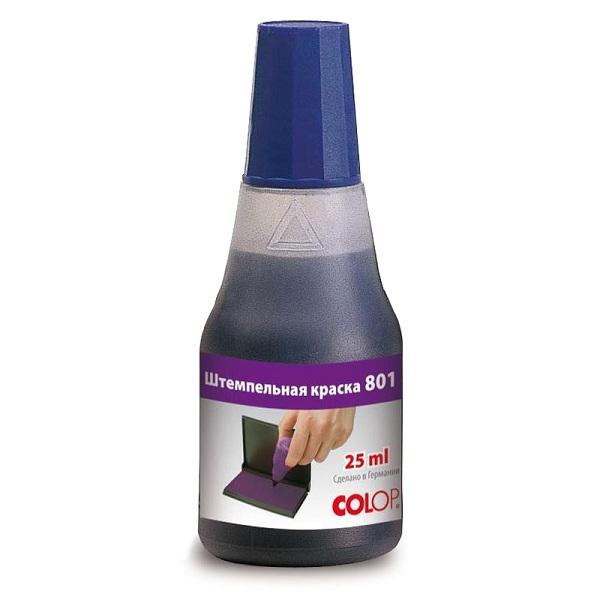 Штемпельная краска на водно-глицериновой Colop 801 синяя