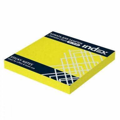 Бумага Index с липким слоем желтый неон