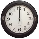Часы настенные  (черный циферблат)