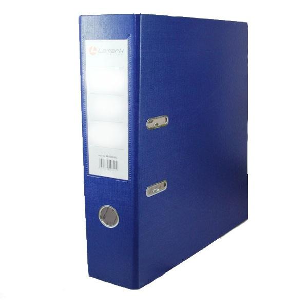 Регистратор PVC Lamark синий металлический уголок
