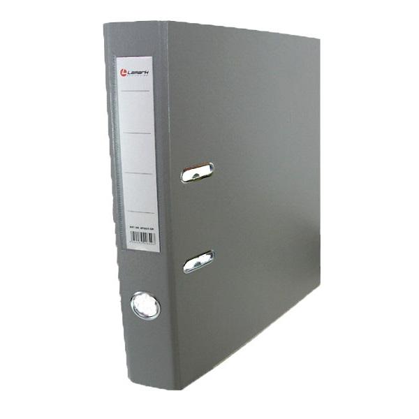 Регистратор PVC Lamark 8 см серый металлический уголок