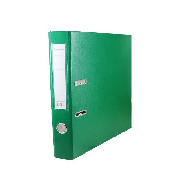 Регистратор PVC Lamark 8 см зелёный металлический уголок