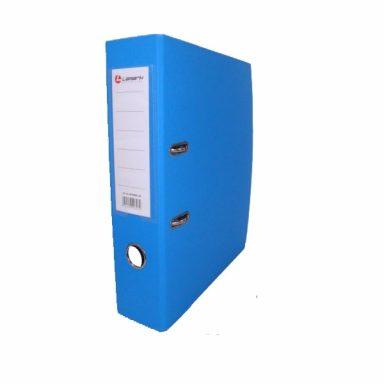Регистратор PVC Lamark 8 см голубой металлический уголок