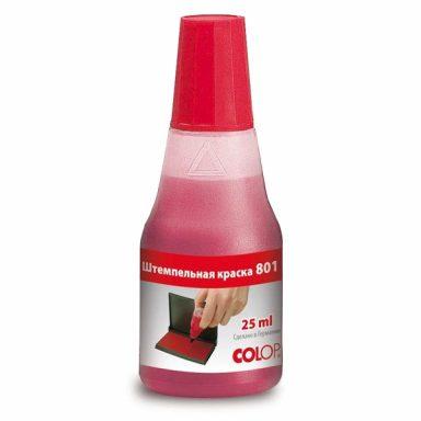 Штемпельная краска на водно-глицериновой Colop 801 красная