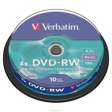 DVD-RW диски Verbatim