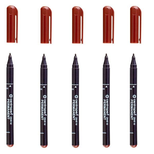 маркер Centropen permanent 2846 коричневый