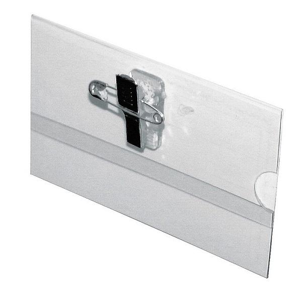 Бейдж с металлическим зажимом и булавкой для карточек 90х60