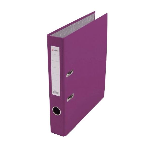 Регистратор PVC Lamark 5 см фиолетовый металлический уголок