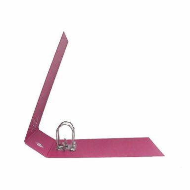 Регистратор PVC Lamark 80мм розовый металлический уголок