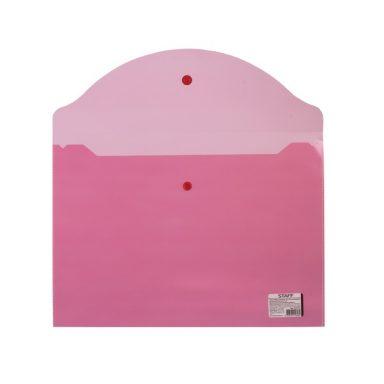 Папка-конверт с кнопкой , красная