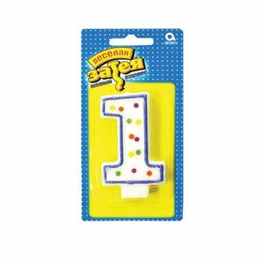 """свеча цифра """"1"""""""