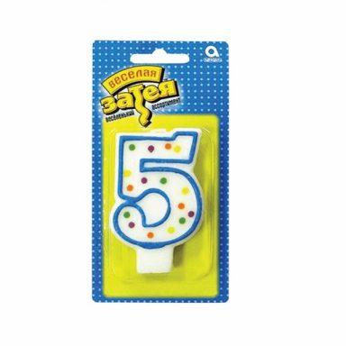 """свеча цифра """"5"""""""