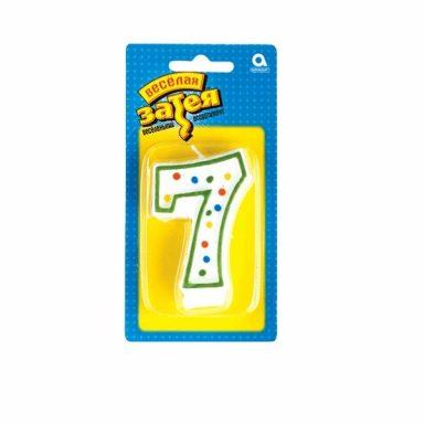 """свеча цифра """"7"""""""