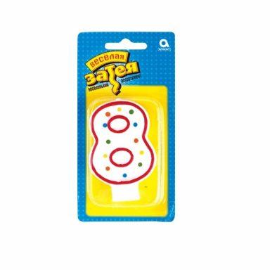 """свеча цифра """"8"""""""