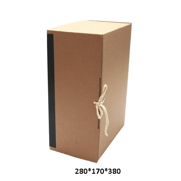 Архивный короб вертикальный с завязками 280*170*380 мм
