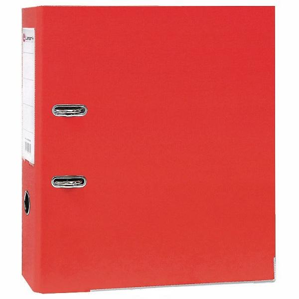 Регистратор PVC Lamark 8 см красный металлический уголок
