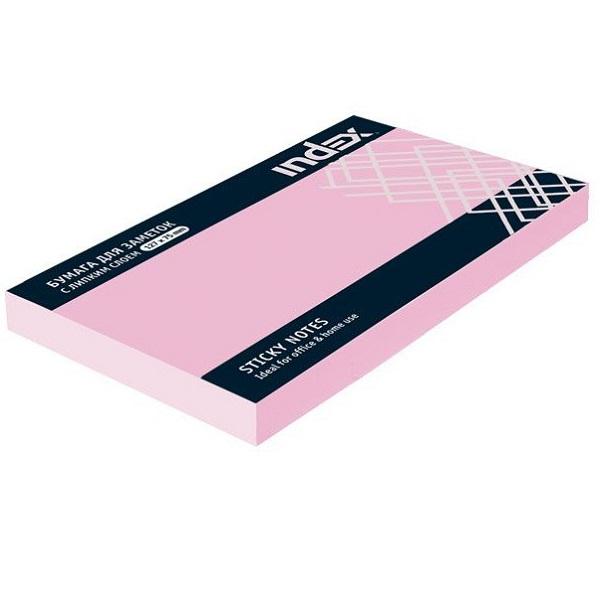 Блок для записей с клейким краем 75*105 INDEX