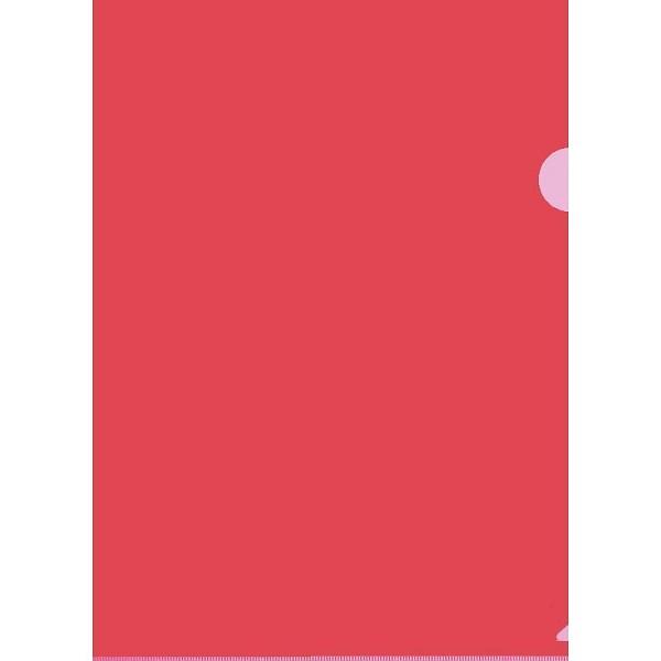 Папка уголок красная