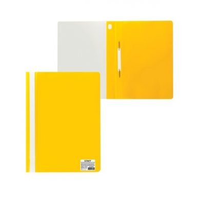 желтый скоросшиватель с прозрачным верхом