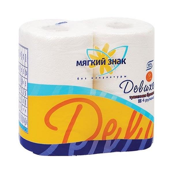 Мягкий знак Deluxe туалетная бумага