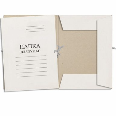 папка картон с завязками