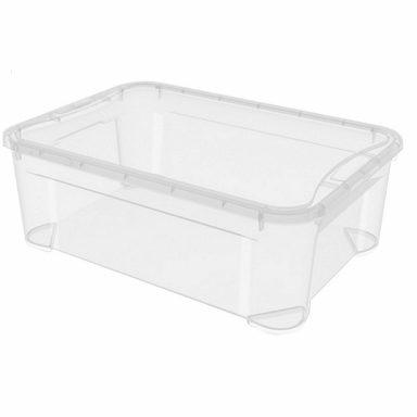 Универсальный прозрачный ящик для хранения 18л