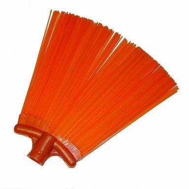 метла пластиковая красная