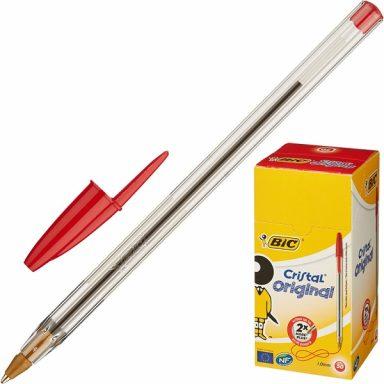 красная шариковая ручка BIC Cristal