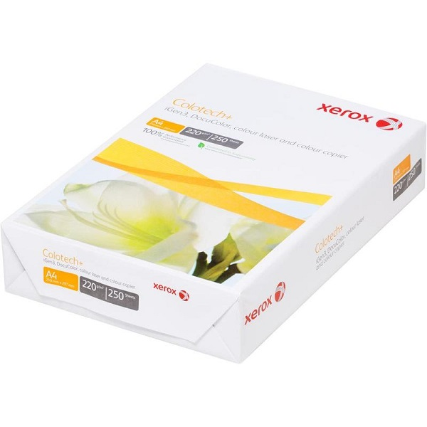формата А4 и плотностью 220г/м2 XEROX Colotech plus