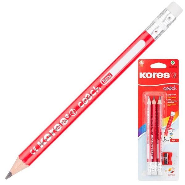Набор простых детских карандашей Kores Jumbo HB