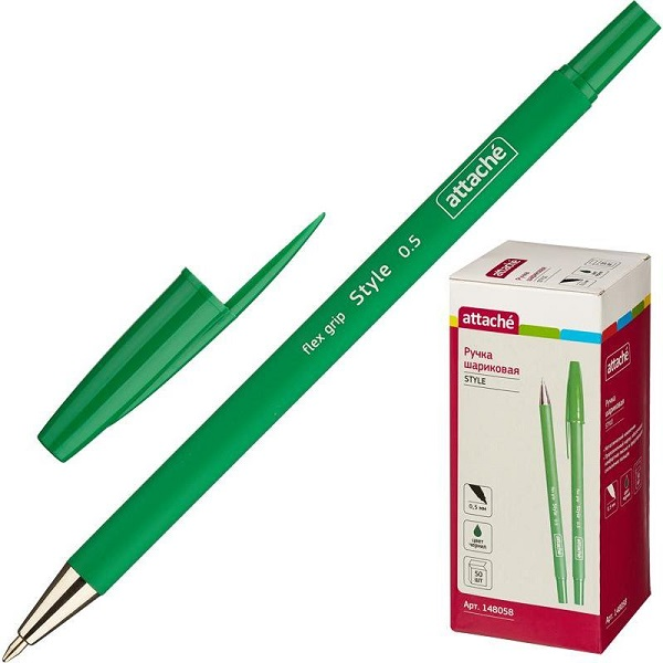 Ручка Attache Style Зеленая