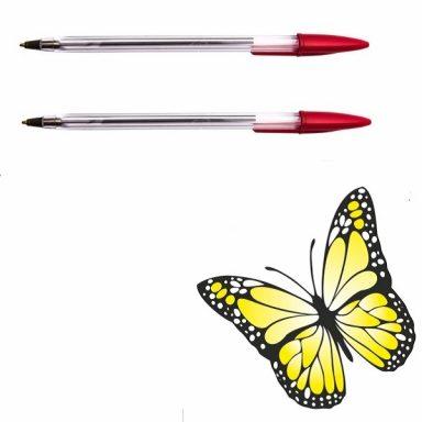 одноразовая шариковая ручка Dolce Costo красный