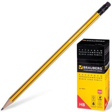 простой карандаш BRAUBERG Stripes