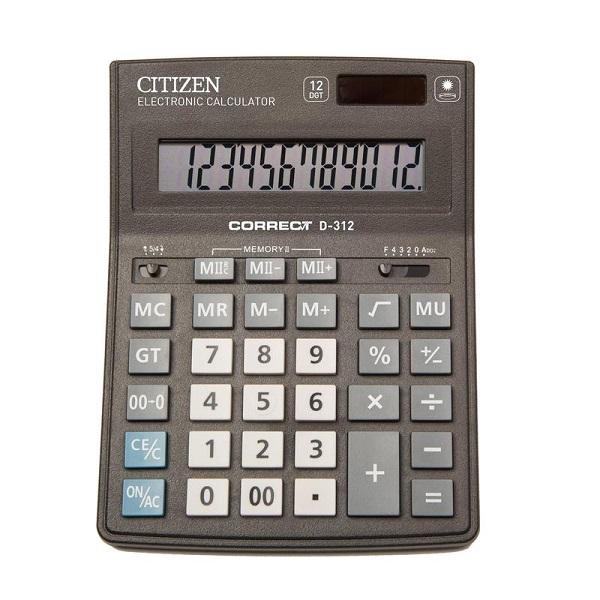 Калькулятор Citizen D-312 12-разрядный