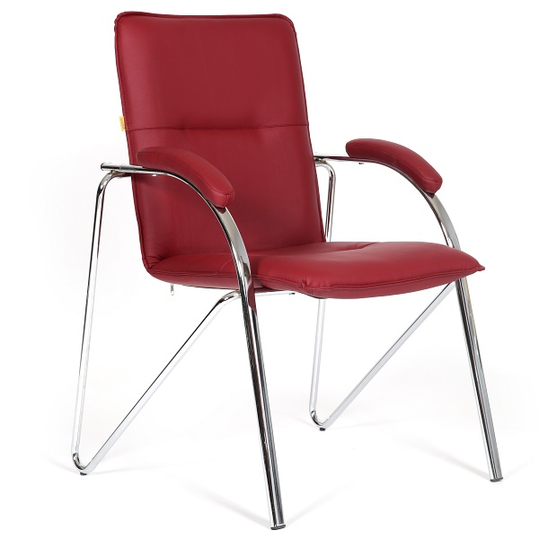 Кресло для посетителей бордовое CHAIRMAN 850